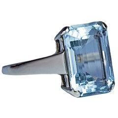 6 Carat Aquamarine Gold Ring