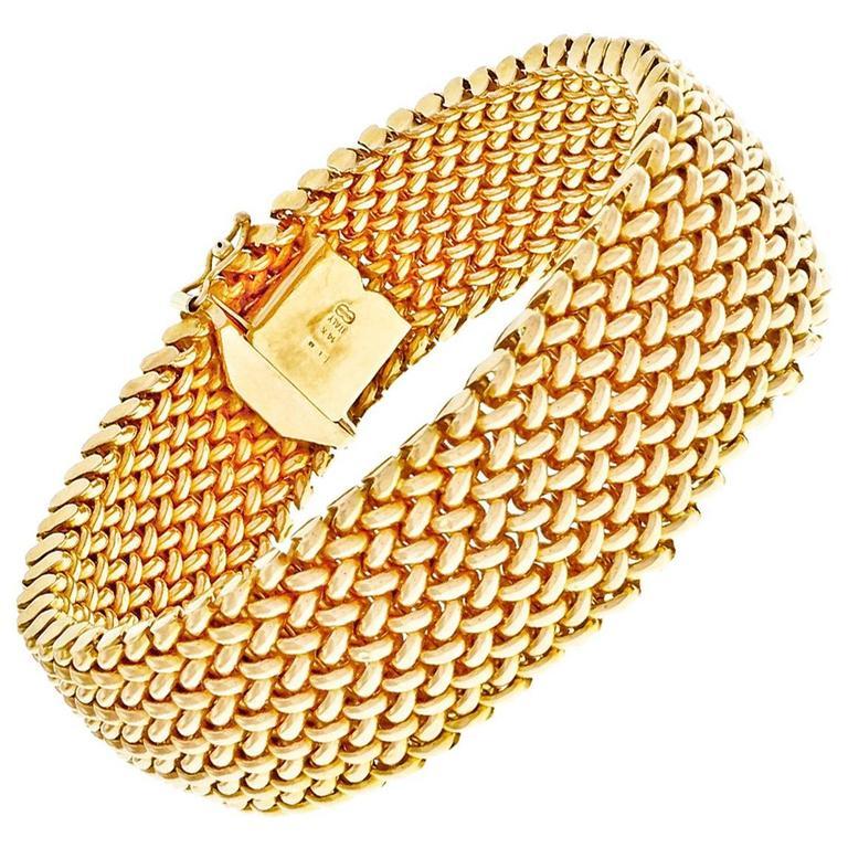 Unoaerre Italian Gold Mesh Bracelet For