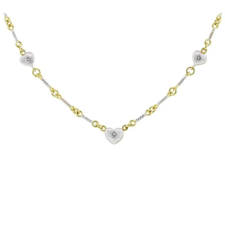 simple heart diamond necklace designs wwwimgkidcom