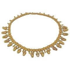 Antique Gold Acorn Necklace