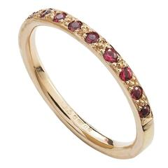 Milena Kovanovic Spinel Gold Half Eternity Band Ring