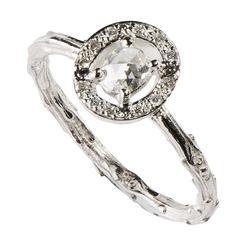 Milena Kovanovic Rose Cut Diamond Gold Engagement Ring