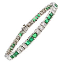 Pampillonia Emerald Diamond Bracelet