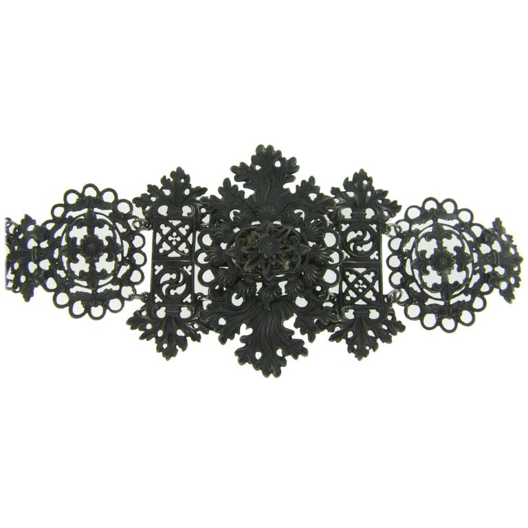 Past Era Georgian Ornate Berlin Iron Bracelet For Sale