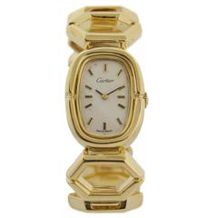 Cartier Lady's Yellow Gold Bracelet Wristwatch