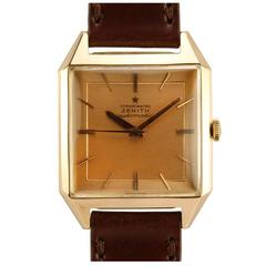 Zenith Rose Gold Square Automatic Wristwatch