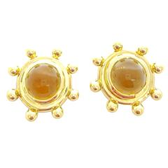 Tiffany & Co. Paloma Picasso Citrine Cabochon Gold Earrings