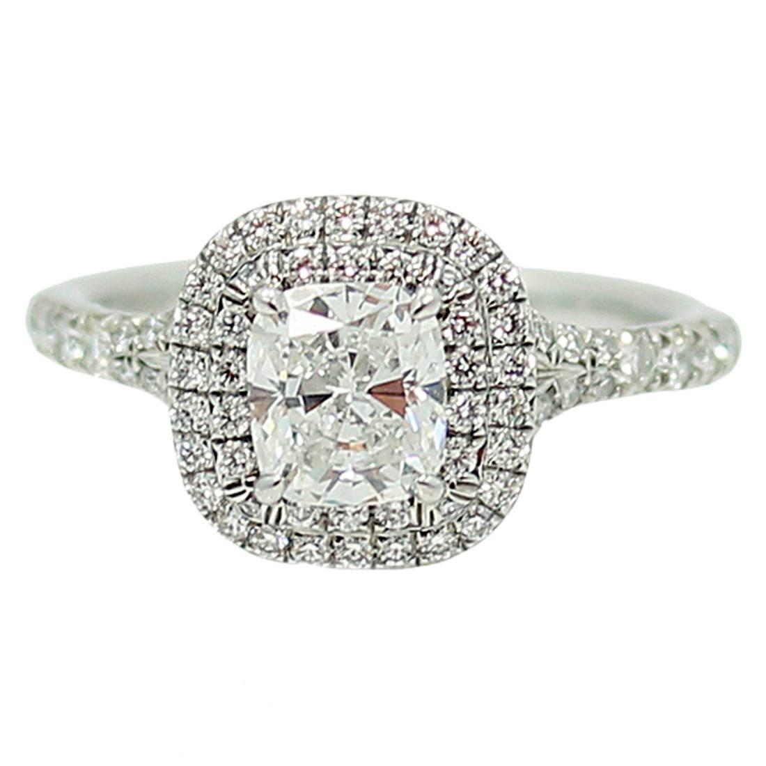 tiffany and co soleste diamond platinum engagement ring