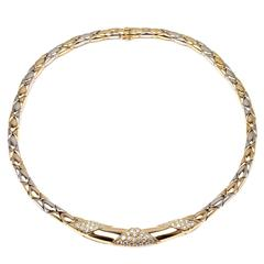 Cartier Diamond Two Color Gold Necklace