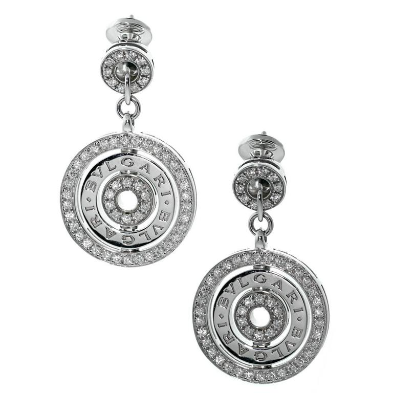 Bulgari Astrale Diamond Gold Earrings 1