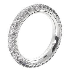 Chanel Sapphire Diamond Gold Band Ring
