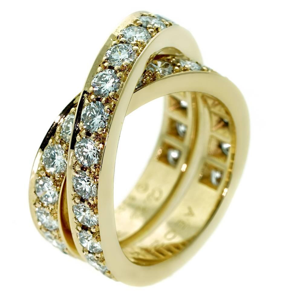 cartier nouvelle vague bypass gold ring for sale