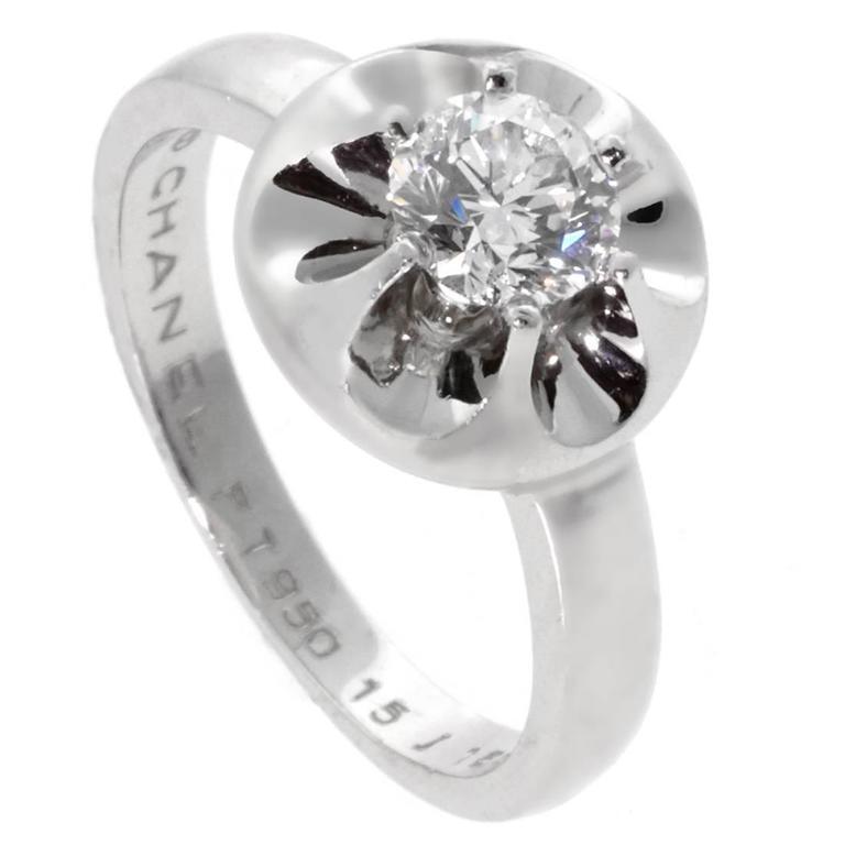 Chanel Solitaire Diamond Platinum Ring 1