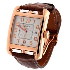 Hermes Rose Gold Limited Edition Cape Cod Automatic Wristwatch