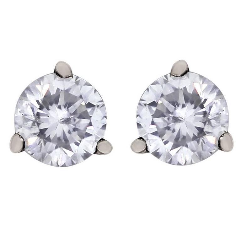 Diamond Gold Stud Earrings 1