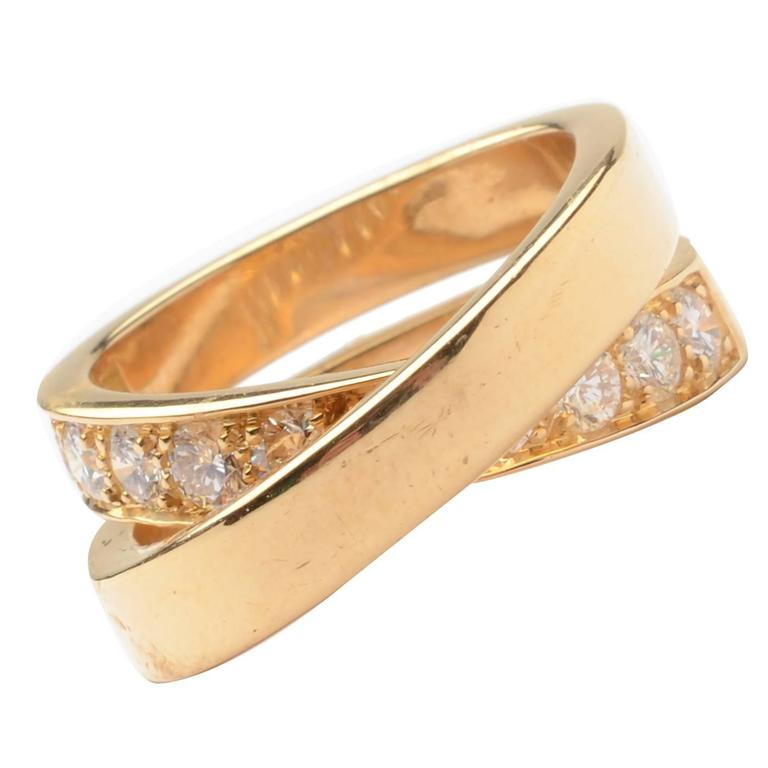 Cartier Diamond Gold Nouvelle Vague Crossover Ring