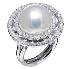 Pearl Diamond Gold Ring