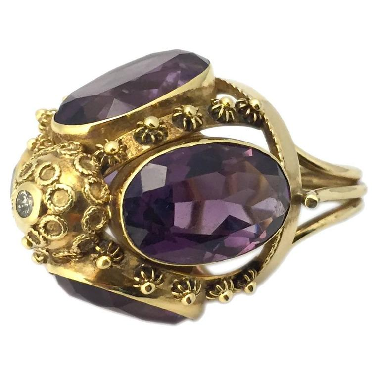 antique amethyst gold ring for sale at 1stdibs