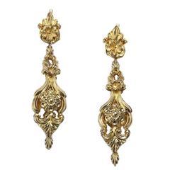 Early Victorian Gold Drop Earrings