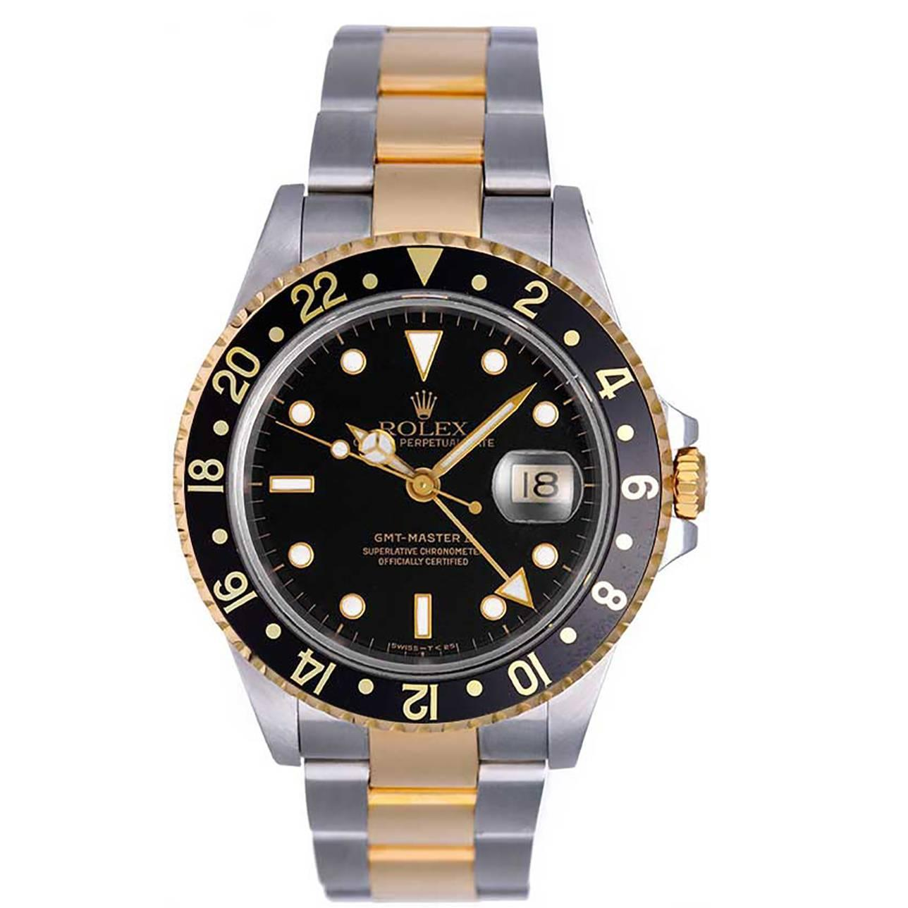 rolex yellow gold stainless steel gmt master ii 2 time. Black Bedroom Furniture Sets. Home Design Ideas