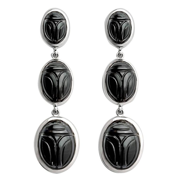 Colleen B. Rosenblat Onyx Gold Earrings