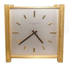 1970s Patek Philippe Solar Powered Desk Clock