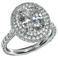 2.07 Carat GIA Cert Diamond Platinum Engagement Ring