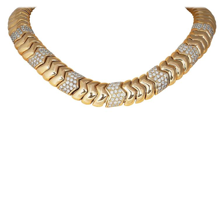 Diamond Gold Collar Necklace