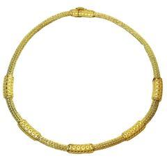 Ilias Lalaounis Gold Mesh Necklace