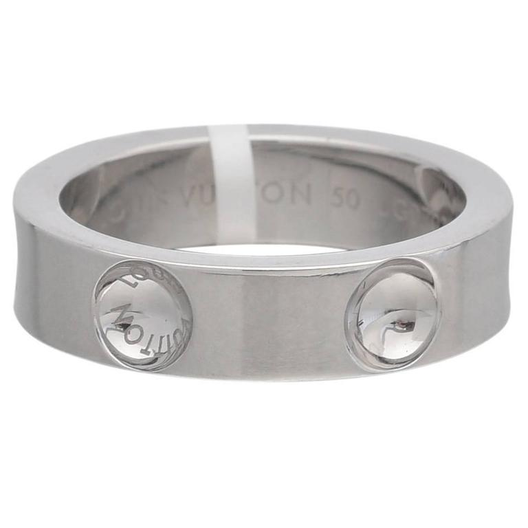 Louis Vuitton Small Gold Empreinte Band Ring