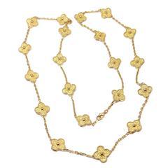 Van Cleef & Arpels Vintage Alhambra Gold 20 Motif Necklace