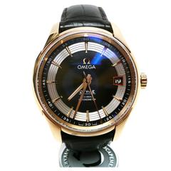 Omega Rose Gold De Ville Hour Vision Co-Axial Automatic Wristwatch