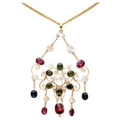 Victorian Gem Gold Necklace
