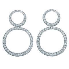 "Diamond Gold ""Circles"" Earrings"