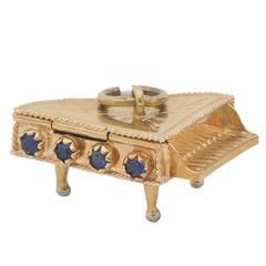 Sapphire Gold Piano Charm