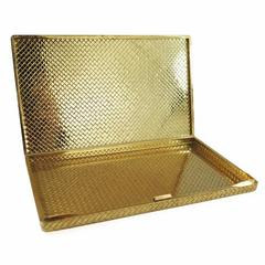 1940s Van Cleef & Arpels Textured Basketweave Design Gold Box