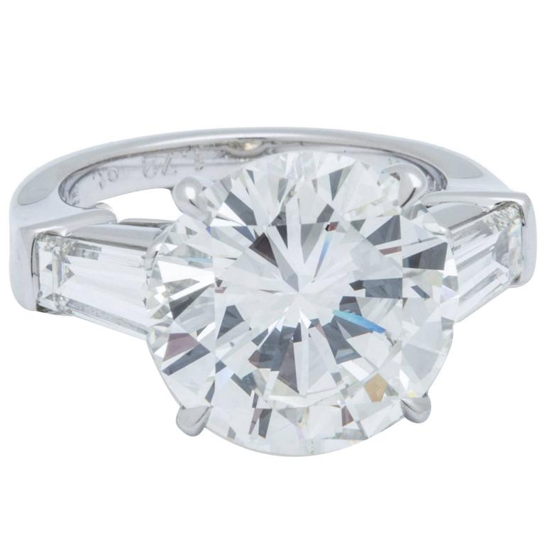 7.55 Carat GIA Certified Diamond Platinum Ring