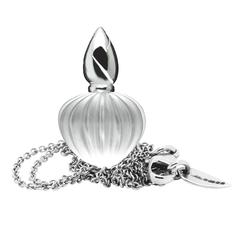 Libertine Perfume Bottle Style White Crystal Gold Necklace