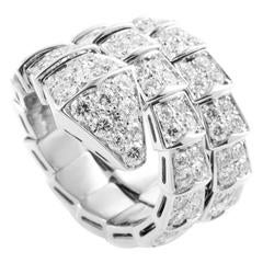 Bulgari Serpenti Full Diamond Pave Gold Ring