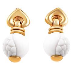 Bulgari Chandra Ceramic Gold Earrings