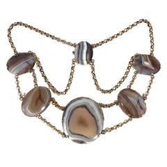 Antique Scottish Agate Necklace