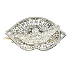 1930s Boucheron Diamond Platinum Brooch