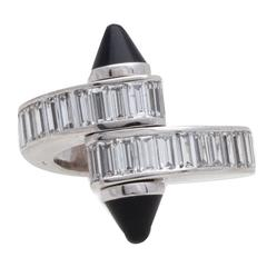 Cartier Black Onyx Diamond Baguette Gold Love Ring