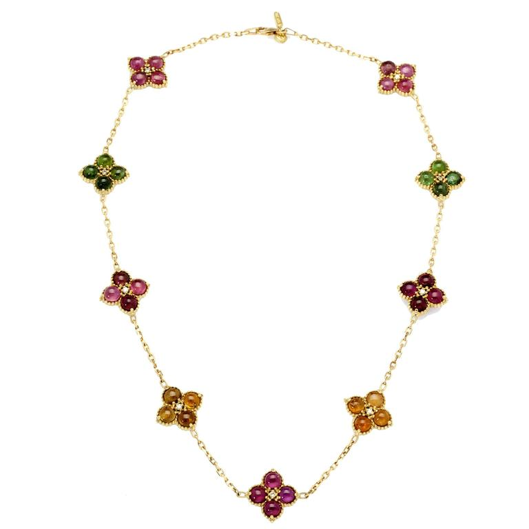 Stambolian Tourmaline Diamond Gold Necklace