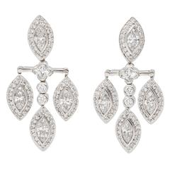 Beaudry Diamond Platinum Earrings