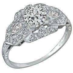 Enticing GIA Certified 0.70 Carat Diamond Platinum Engagement Ring