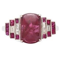 Burmese Fancy Reddish Pink Sapphire Diamond Gold Ring