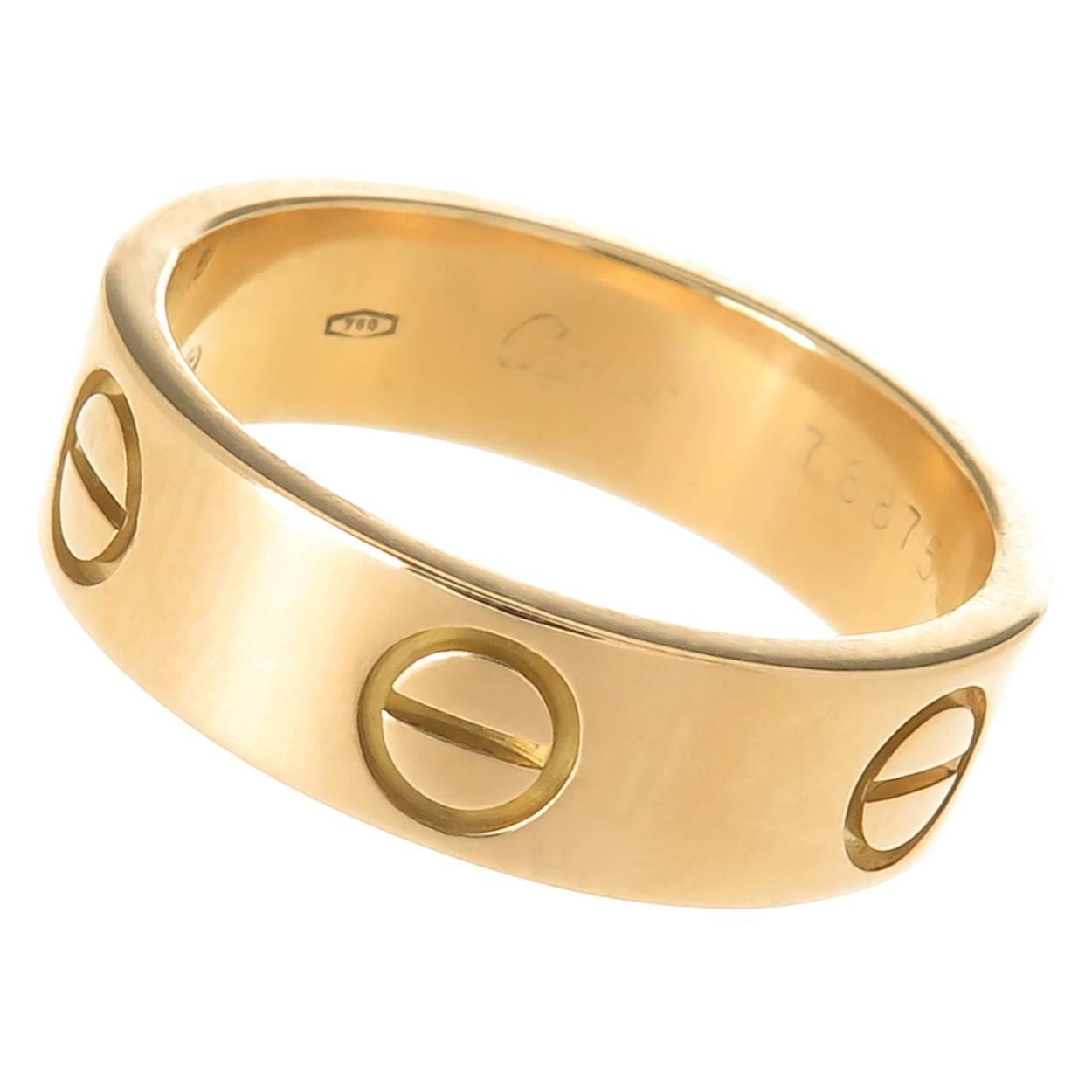 Cartier Gold Love Ring at 1stdibs Cartier Love Rings