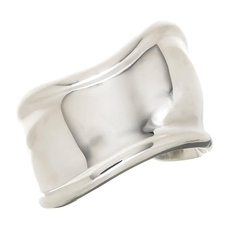 Tiffany & Co. Elsa Peretti Sterling Bone Cuff Bracelet For Sale