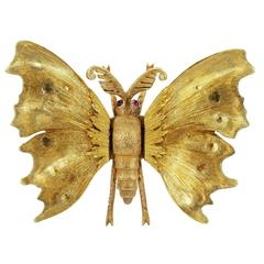 M. Buccellati Gold Butterfly Pin